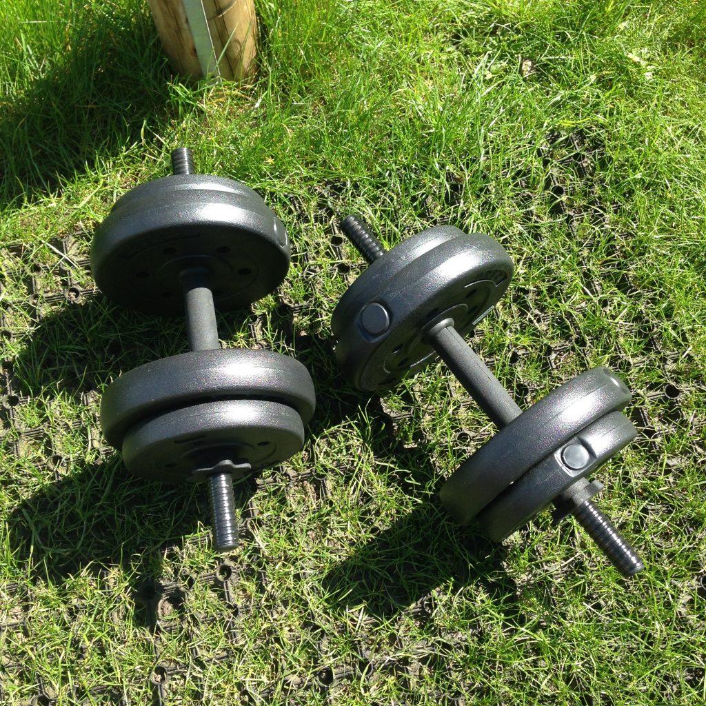 Weights On Rubber Grass Mat