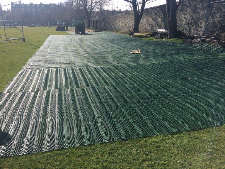 TurfMesh Installation Grange Sports Club - Laying The Mesh