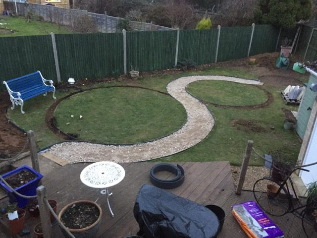 EcoLat Lawn Edging Being Installed