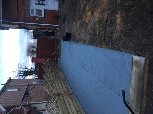 X-Grid Installation: Laying the Weed Membrane