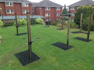 Rubber Grass Mat Rolls used by Fitness Trees