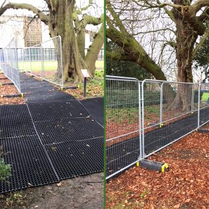 Grass Mats used as a walkway