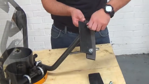 Securing the mixing paddle to the arm