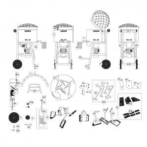 SoRoTo 80L Forced Action Mixer Spare Parts