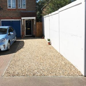 A pan mixer can be used when creating a resin bound gravel driveway