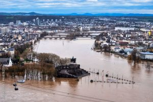 Surface flooding affected Germany and other parts of Europe in 2021