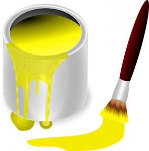 A mixer can be used in the creation of paints