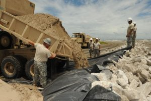 Non-Woven Membranes are used in coastal locations for protection