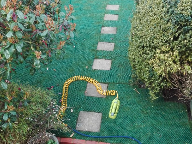 GrassMesh On New Lawn - Before