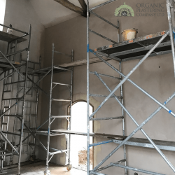 Organic Plastering - Lime Putty Installed