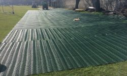 TurfMesh Installation Grange Sports Club - Laying The Mesh