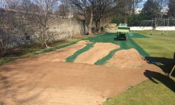 TurfMesh Installation Grange Sports Club - Mesh Covered With Sand