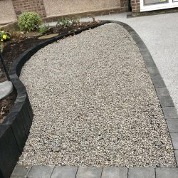 West Bridgford Landscaping Ltd - Grey X-Grid Gravel Driveway Finished