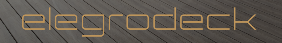 100% Recycled Terrace Boards - Elegrodeck Gold Logo