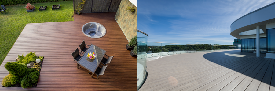 100% Recycled Terrace Boards - Elegrodeck Images