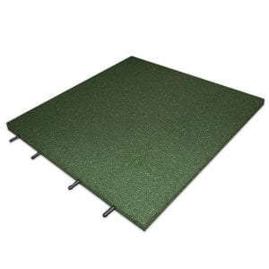 Rubber Play Tiles - Green