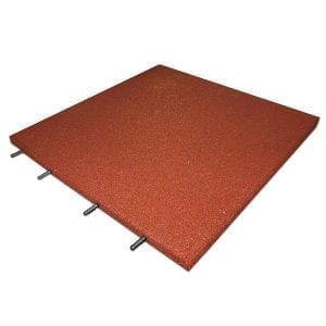 Rubber Play Tiles - Red
