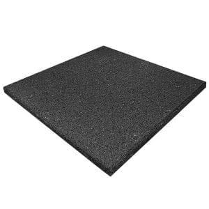 Rubber Play Tiles Non-Interlocking Black Non-Slip Flooring