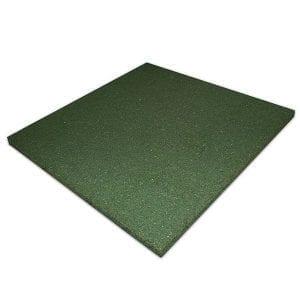 Rubber Play Tiles Non-Interlocking Green Non-Slip Flooring