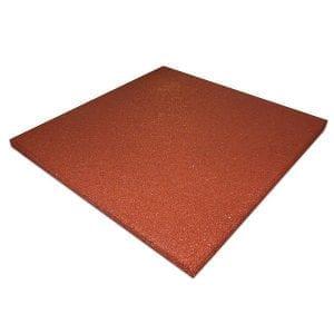 Rubber Play Tiles Non-Interlocking Red Non-Slip Flooring