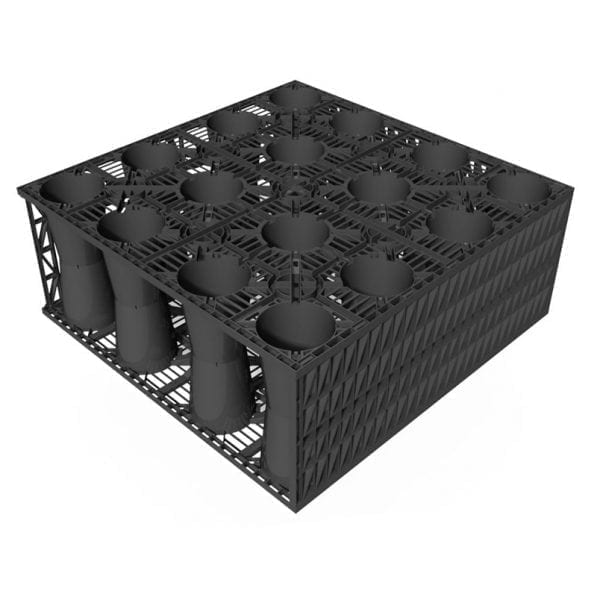 RecoCrate attenuation crate side view