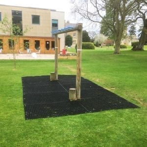 Rubber Grass Mats In Use - School