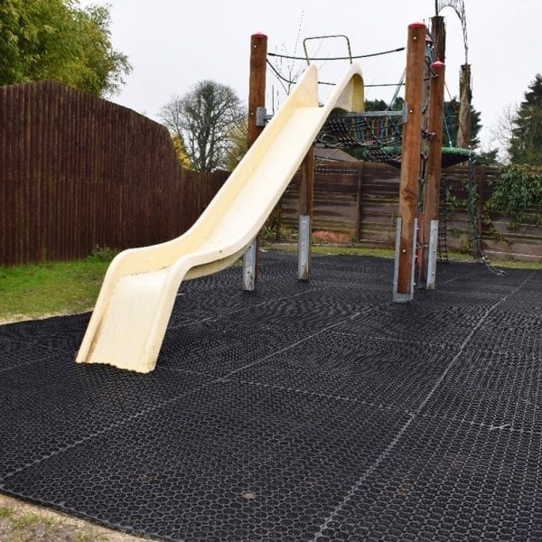 Rubber Grass Mats In Use - Playarea