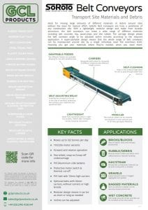 Belt Conveyor Spec Sheet Front Page