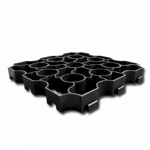 Black X-Grid Paving Grid