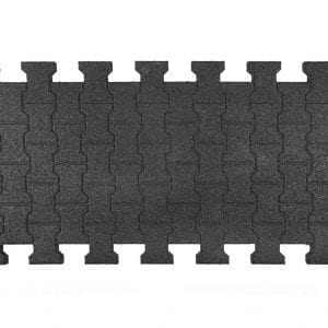 Interlocking Rubber Horse Mats - topside