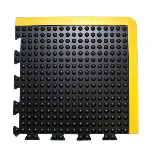 Bubblemat Connect Corner Tile Black/Yellow
