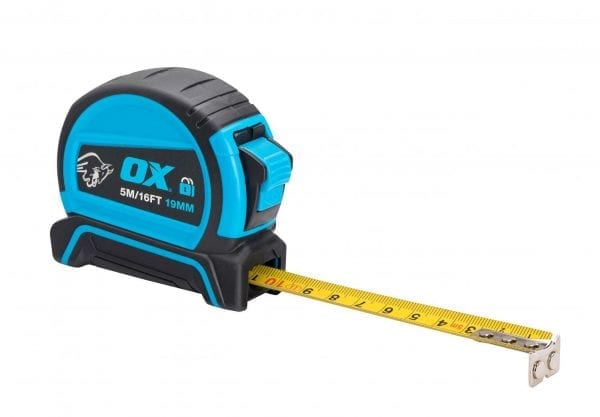OX Pro Dual Auto Lock Tape Measure - 5m