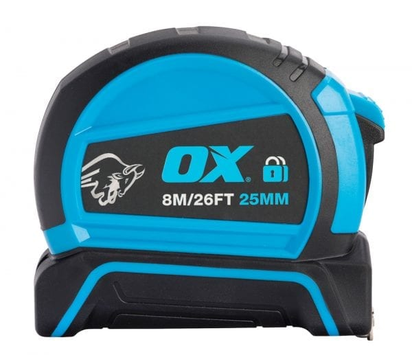 Tools Specialist OX Pro Dual Auto Lock Tape Measure - 8m