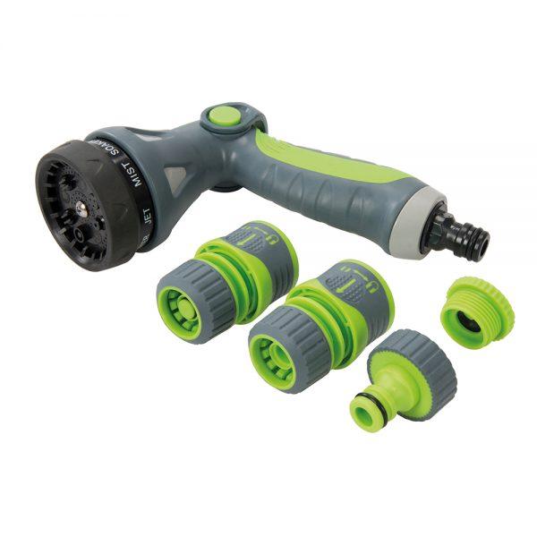 Soft-Grip Spray Gun Quick Connect Set 5pce